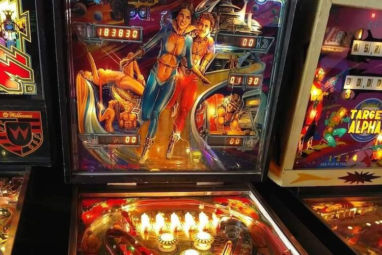 Pinball machines and early video games await at Vector Bar & Arcade.