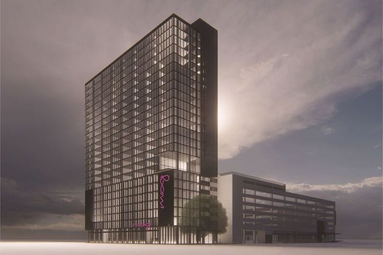 Plans call for a Marriott International Moxy Hotel to open in The Heights in 2022.