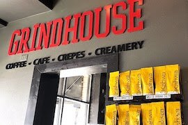 Grindhouse coffee shop in downtown Clearwater.