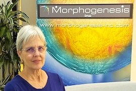 Dr. Patricia Lawman, President and CEO, in the offices of Morphogenesis.