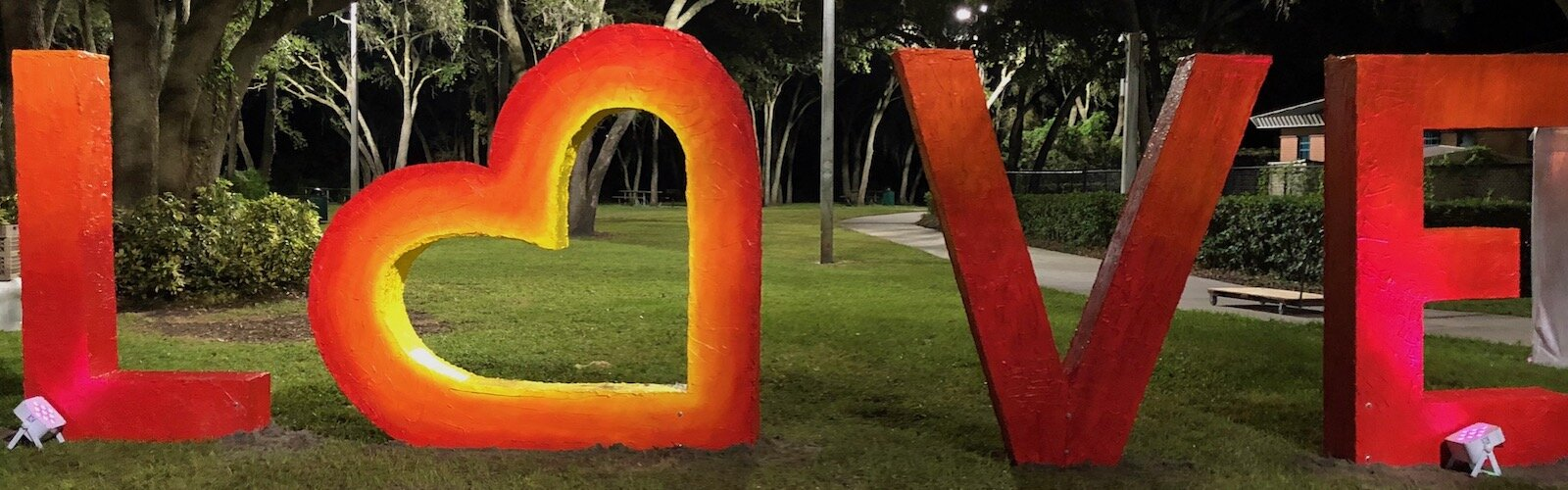 Love sculpture for Harvest Hope Park by Lead Artist Junior Polo was funded by a Treasure Tampa grant by the Gobioff Foundation.