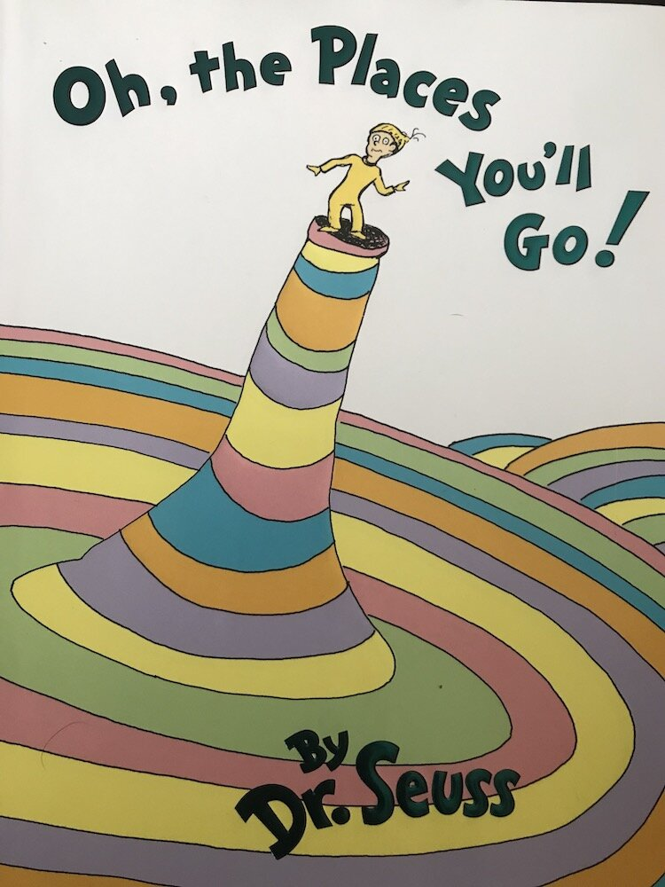 Book cover: 'Oh, the Places You'll Go!'