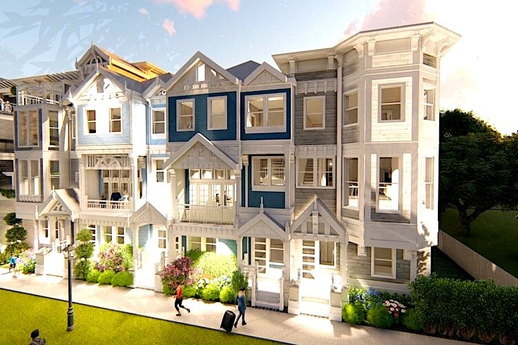 The proposed townhomes are designed to appeal to people looking for an urban lifestyle in a walkable neighborhood.