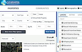 City of Clearwater's new enhanced web tools give easy access to property information.