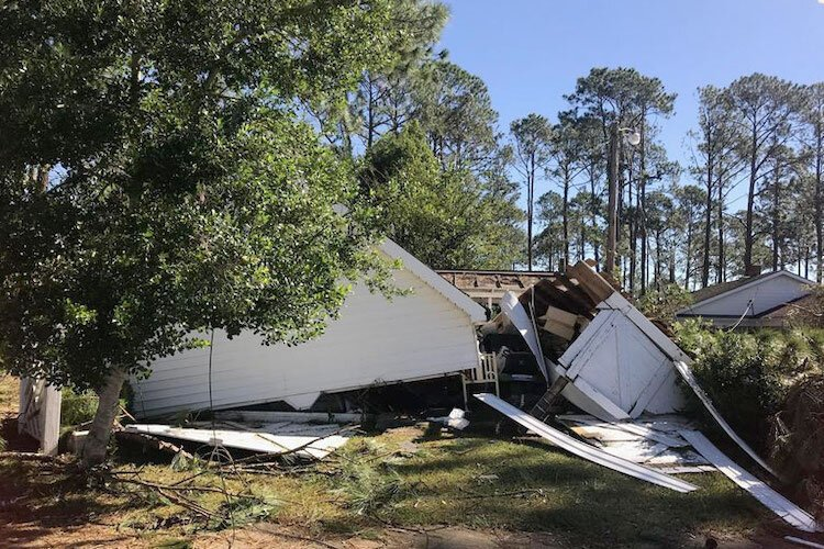 AT&T lines down after hurricane moves through Panama City.