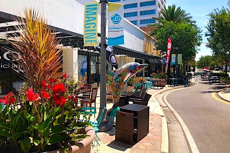 Restaurants are beginning to reopen in downtown Clearwater with COVID-19 guidelines.