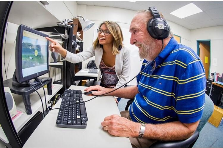 Volunteers undergo brain training with researchers studying dementia.