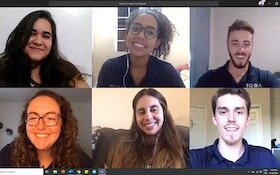 USF HEXA Consulting members in virtual meetup.