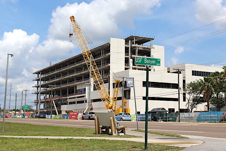 An expansion is underway of the AdventHealth hospital on Fletcher Avenue.
