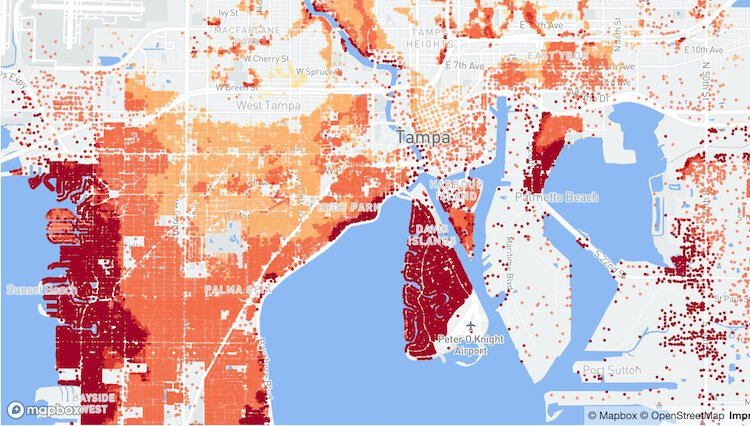New Online Tool Maps Flood Risk In Tampa Bay Area Florida Tampa bay & gulf beaches. new online tool maps flood risk in