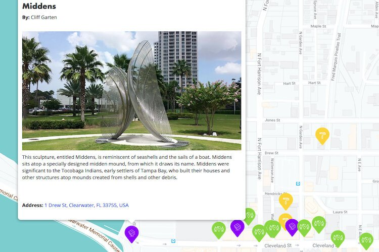 The new interactive map includes descriptions and images of public art in Clearwater so you can plan your visit.