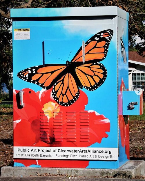 Elizabeth Barenis' artwork at Lakeview Road and Myrtle Avenue in Clearwater.