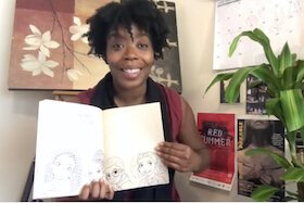 Andresia Moseley reads aloud a children's book, Brown Skin, on Stageworks YouTube channel.