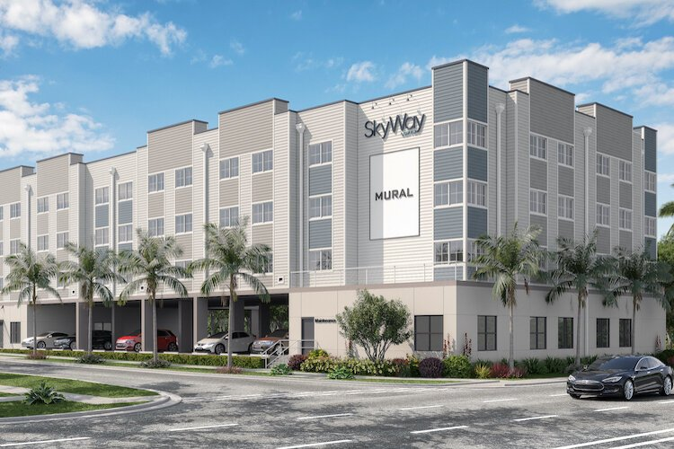An artist's rendering of the new Skyway Lofts affordable apartments in the Skyway Marina development in St. Pete.