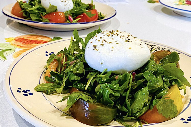 Valenti's Burrata Con Pomodori E Rucola will be featured on the menu of Tampa's new Sicilian restaurant.