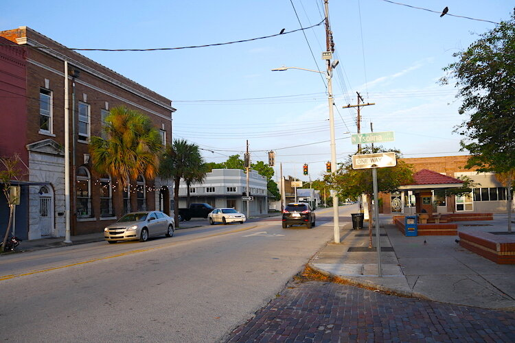 Brick streets and buildings are common in the historic West Tampa neighborhoods.