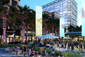 The Midtown Tampa development includes entertainment venues and outdoor space for public gatherings.