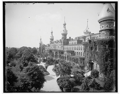 "Built by railroad magnate Henry Plant, the opulent Tampa Bay Hotel was not built with Floridians in mind but for the ""leisure class"" of the Gilded Age."