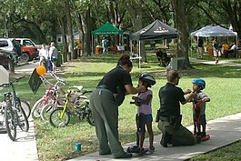 A mini-grant for one neighborhood funded a bike rodeo, complete with free helmets and safety information.