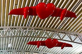 """Love'' artwork by Cuban artist Esterio Segura at Tampa International Airport."