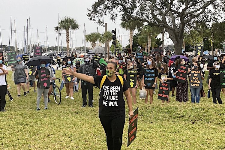 Protestors demand peace, justice, and equality at October rally in St. Pete.