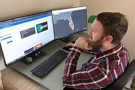 USF Library Digital Heritage & Humanities Center (DHHC) GIS Project Manager Ben Mittler designed the Florida COVID-19 Hub. The Hub features GIS dashboards tracking COVID-19 infections in Florida, with additional info localized to the Tampa Bay Area.