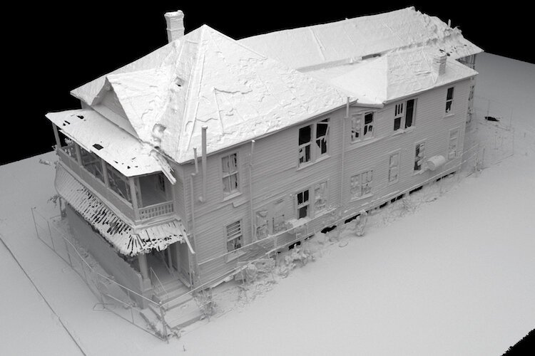 A 3D scan of the historic Jackson House reveals the extent of the restoration work required.