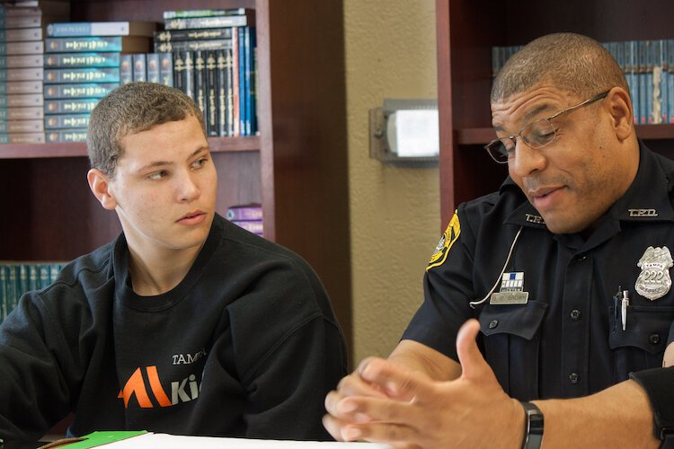 AMIkids' program, Breaking Barriers, helps police and youth foster healthy communication, mutual trust, and understanding.