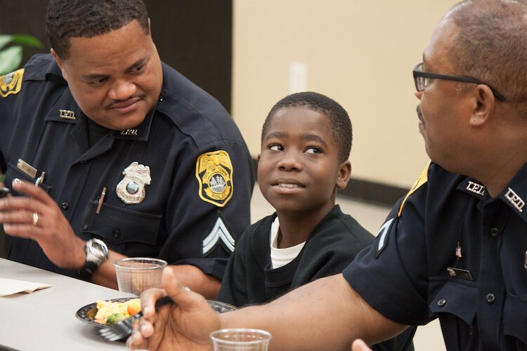 Forever 55 supports programs like Breaking Barriers, a program designed to develop better relationships between law enforcement and community members.