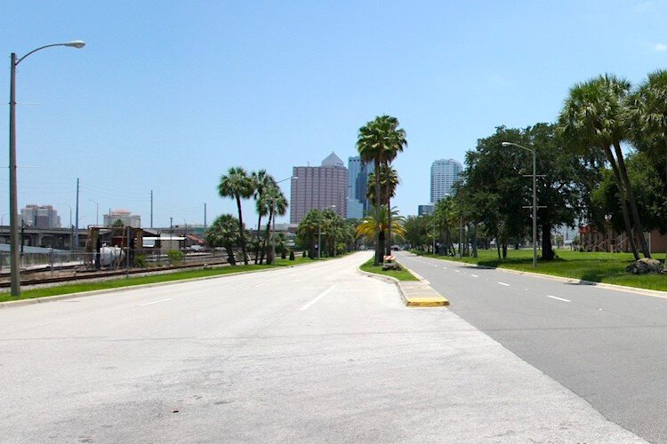 Nuccio Parkway in East Tampa today.