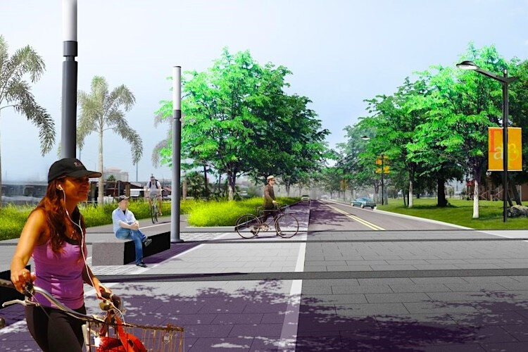 A vision for what Nuccio Parkway could be in the future.