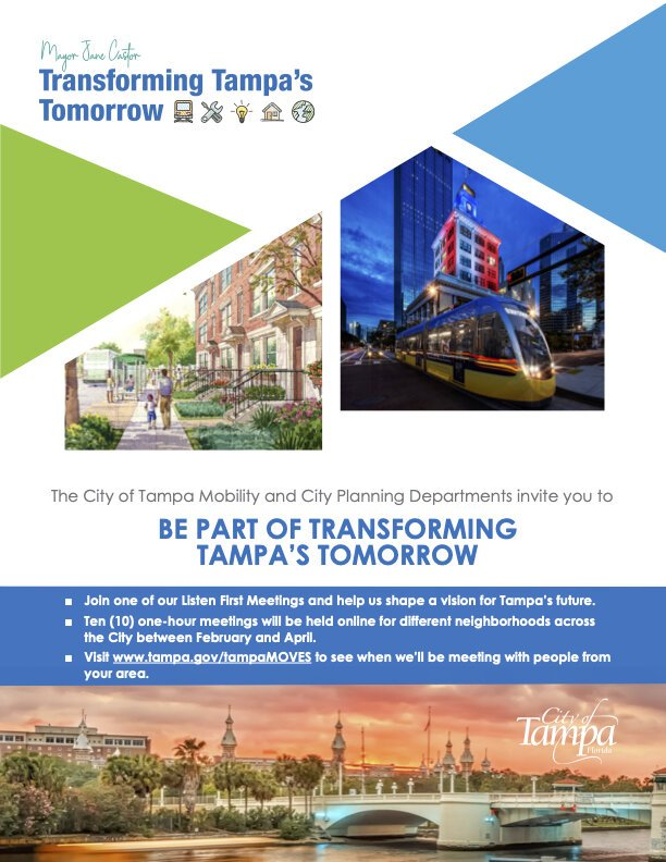 Transforming Tampa's Tomorrow flyer.