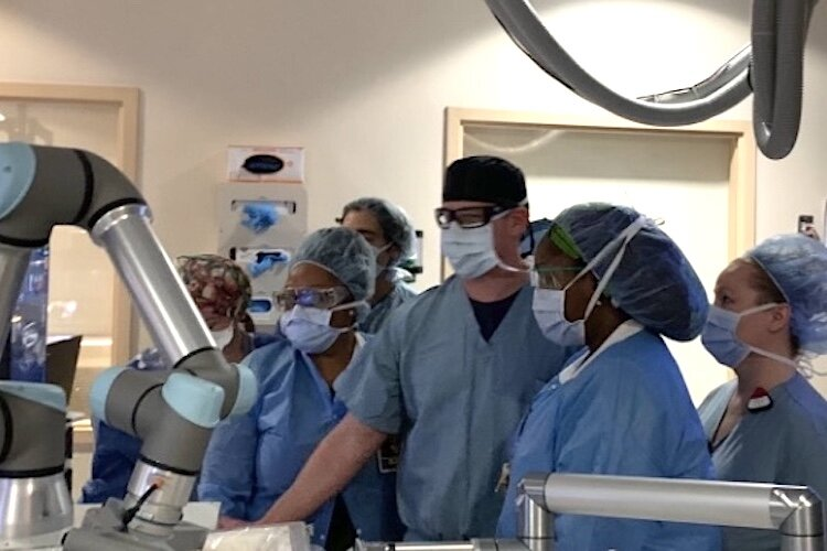 Dr. Cliff Davis and his medical team perform first Histotripsy, a non-invasive procedure using sound waves to remove liver tumors.