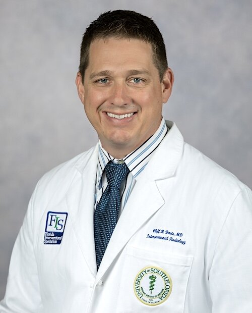 Dr. Cliff Davis, Director of the Interventional Radiology Residency Program, USF Health Morsani College of Medicine