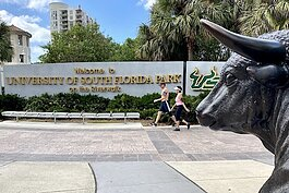 The USF Park on the Tampa Riverwalk near the Tampa Convention Center.