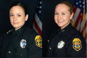 Clearwater Police Officers Carissa Costello and Cheryl Wood.