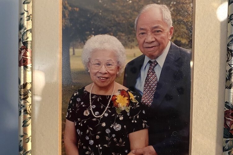 Lauren Wong's grandparents on her father's side of the family.