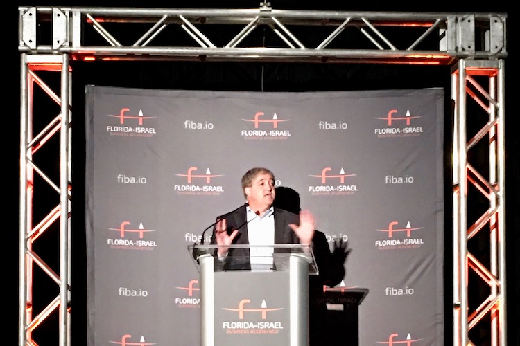 Jeff Vinik speaking at FIBA conference in 2017.