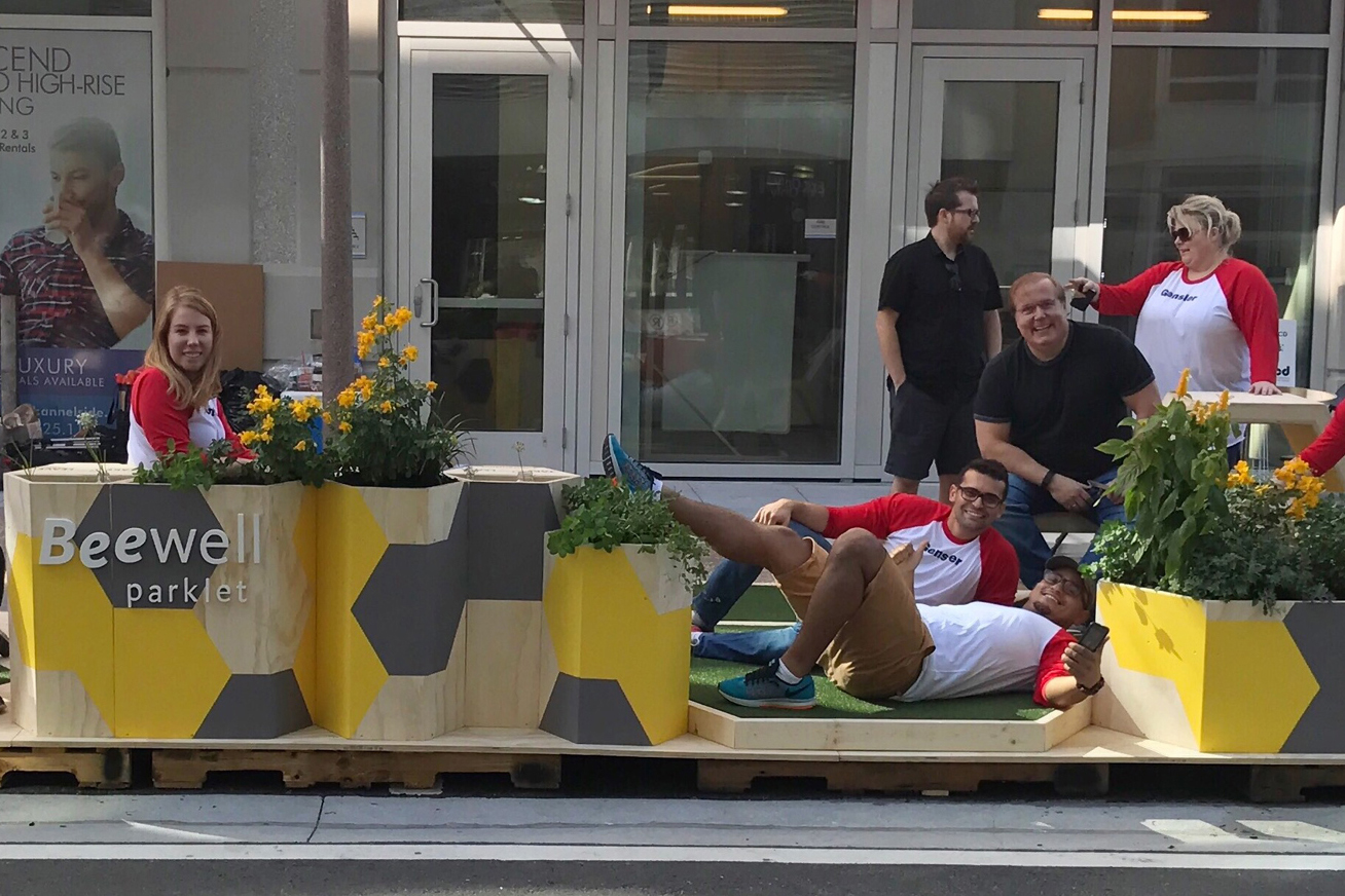 Gensler, a Tampa design firm, created one of seven temporary parklets that were showcased in the Channel District earlier this month. Semi-permanent parklets could be coming to Tampa next year.