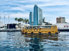 Water taxi in downtown Tampa.