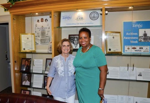 Former Tampa City Clerk Frances Henriquez with current City Clerk Shirley Foxx-Knowles