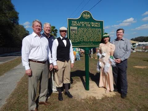Dignataries gather around Temple Terrace's newest historic marker