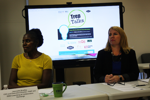 Trep Talks panelists Jeanette Bradley and Lynn Kroesen share their experiences as mentors.