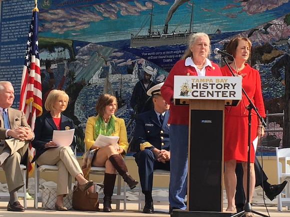 Tampa Historians Nancy Turner and Robin Gonzalez researched the history of the USS Tampa.