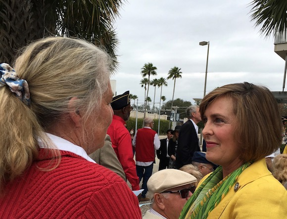 U.S. Congresswoman Kathy Castor congratulates Nancy Turner of Tampa.