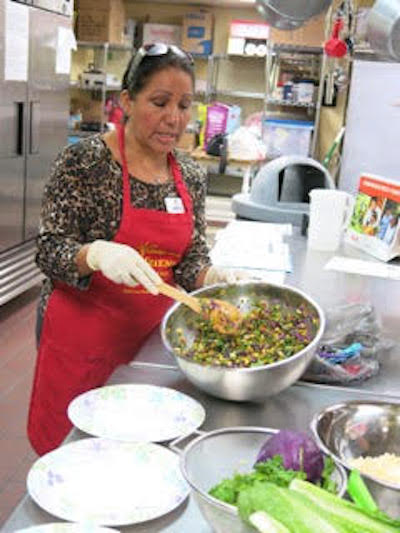 Velia Huitron, health promoter and cooking instructor