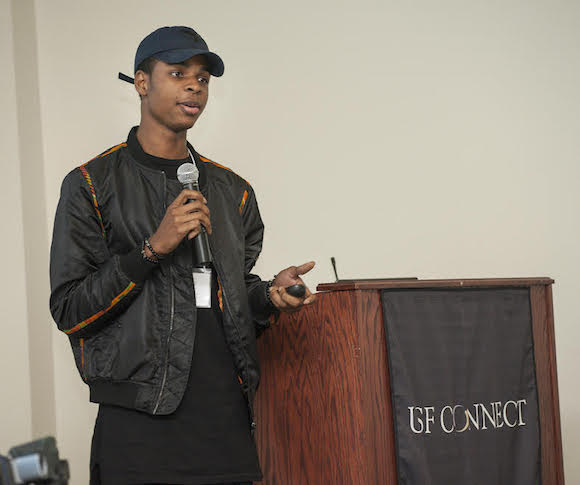 Izu Madubueze speaks at Building Entrepreneurship Around Tampa Bay 2017.